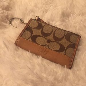 Authentic Coach ID Holder & Coin Purse Keychain